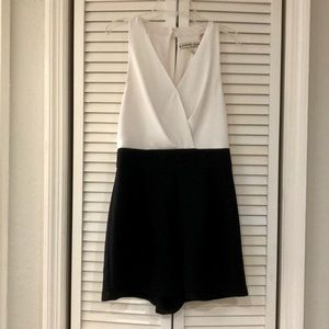 ACCIDENTALLY IN LOVE BLACK AND WHITE ROMPER